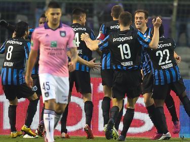 Die Spieler vom Club Brugge jubeln