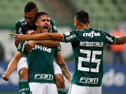 Thiago Martins abrió el marcador para el Palmeiras. (Foto: Getty)