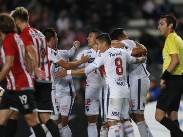 Los jugadores de Nacional celebran su pase de ronda en Argentina. (Foto: Imago)