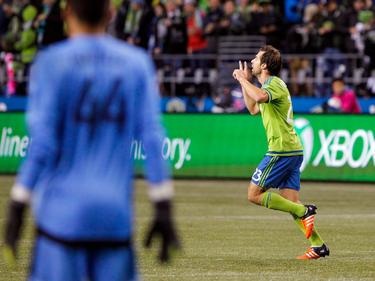 Andreas Ivanschitz bejubelt seine Tore für Seattle