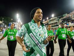 Ronaldinho beim Karneval von Rio de Janeiro