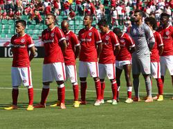 Los jugadores del Internacional antes de un partido del Brasilerao. (Foto: Getty)