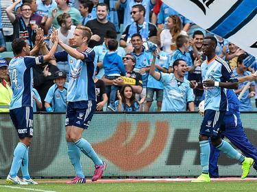 Jubel bei Marc Janko und beim Sydney FC