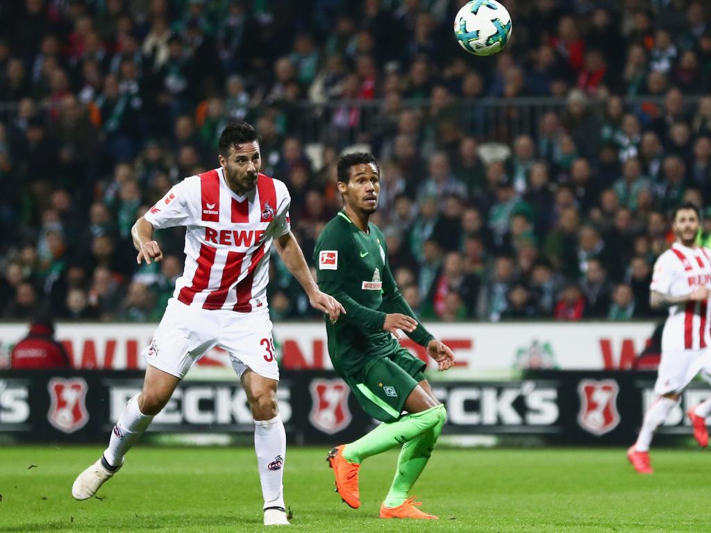 Claudio Pizarro ging mit seinen Kölnern in Bremen baden