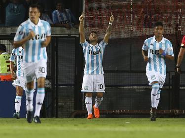 Lautaro Martínez brilló con un triplete en Libertadores. (Foto: Getty)