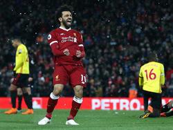 Salah ya es el máximo goleador de esta temporada en la Premier. (Foto: Getty)