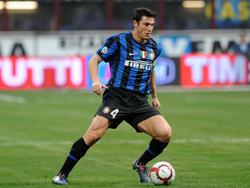 Javier Zanetti en una imagen de archivo como jugador del Inter. (Foto: Getty)