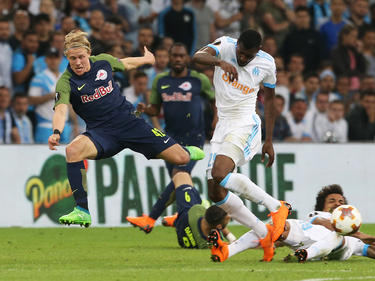 Xaver Schlager kassierte mit Red Bull Salzburg eine 0:2-Niederlage in Marseille