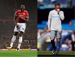 Verkehrte Welt: Romelu Lukaku (l.) ist mit Manchester erfolgreich, Evertons Wayne Rooney hadert