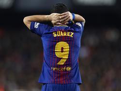 Luis Suárez gozó de varias ocasiones de hacer gol. (Foto: Getty)