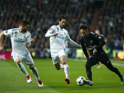 Neymar (r.) spielt seit Saisonbeginn für PSG