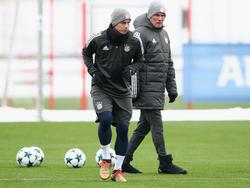Arbeiten harmonisch zusammen: James (l.) und Cheftrainer Jupp Heynckes