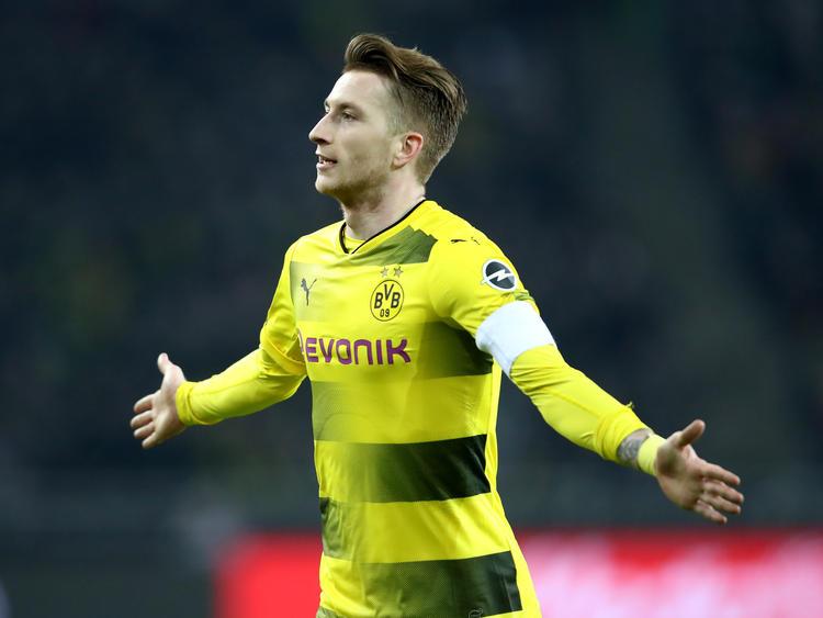 Marco Reus jubelt über seinen Treffer gegen Ex-Klub Borussia Mönchengladbach