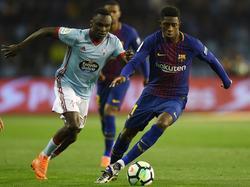 Ousmane Dembélé (r.) spielt seit dem Sommer beim FC Barcelona