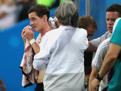 Deutschlands Sebastian Rudy musste verletzt ausgewechselt werden