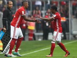 Jérôme Boateng kam für Douglas Costa in die Partie - und überzeugte gleich