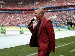 Beim Eröffnungsspiel der WM sorgte Pop-Star Robbie Williams für die musikalische Untermalung