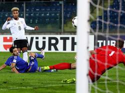 Serge Gnabry feierte ein gelungenes Debüt für die Deutsche Nationalmannschaft