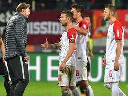 Daniel Baier geriet mit RB-Trainer Ralph Hasenhüttl (l.) aneinander