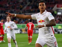 Davie Selke traf für Leipzig zum 2:1