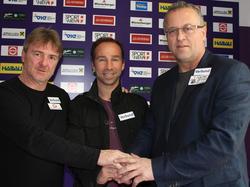 Profi-Trainer Andreas Ogris, Amateur-Trainer Roman Mählich und Sportdirektor Franz Wohlfahrt Sportdirektor Franz Wohlfahrt (© FK Austria Wien)