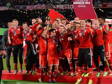 Die Bayern feiern den Klub-WM-Titel