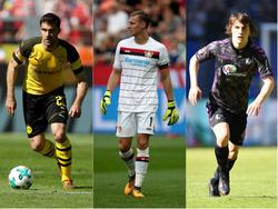 Sokratis (l.), Bernd Leno (m.) und Caglar Söyüncü (r.) stehen beim FC Arsenal auf dem Wunschzettel