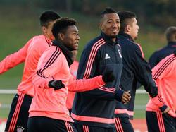 Zurück im Training des FC Bayern: David Alaba und Jérôme Boateng