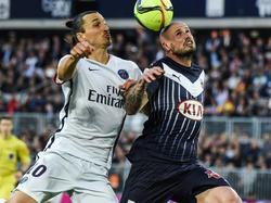 Zlatan Ibrahimovic (l.), Nicolas Pallois (r.)