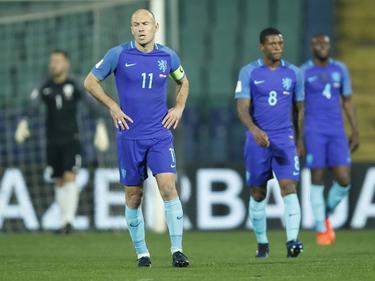 Ganz bitterer Abend für die Elftal um Kapitän Arjen Robben