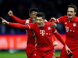 Robert Lewandowski rettete den Bayern einen Punkt in Berlin