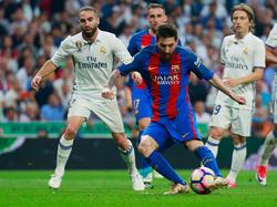 Messi este domingo en el Bernabéu. (Foto: Getty)