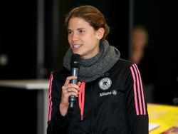 Annike Krahn wurde 2007 mit der DFB-Auswahl Weltmeister