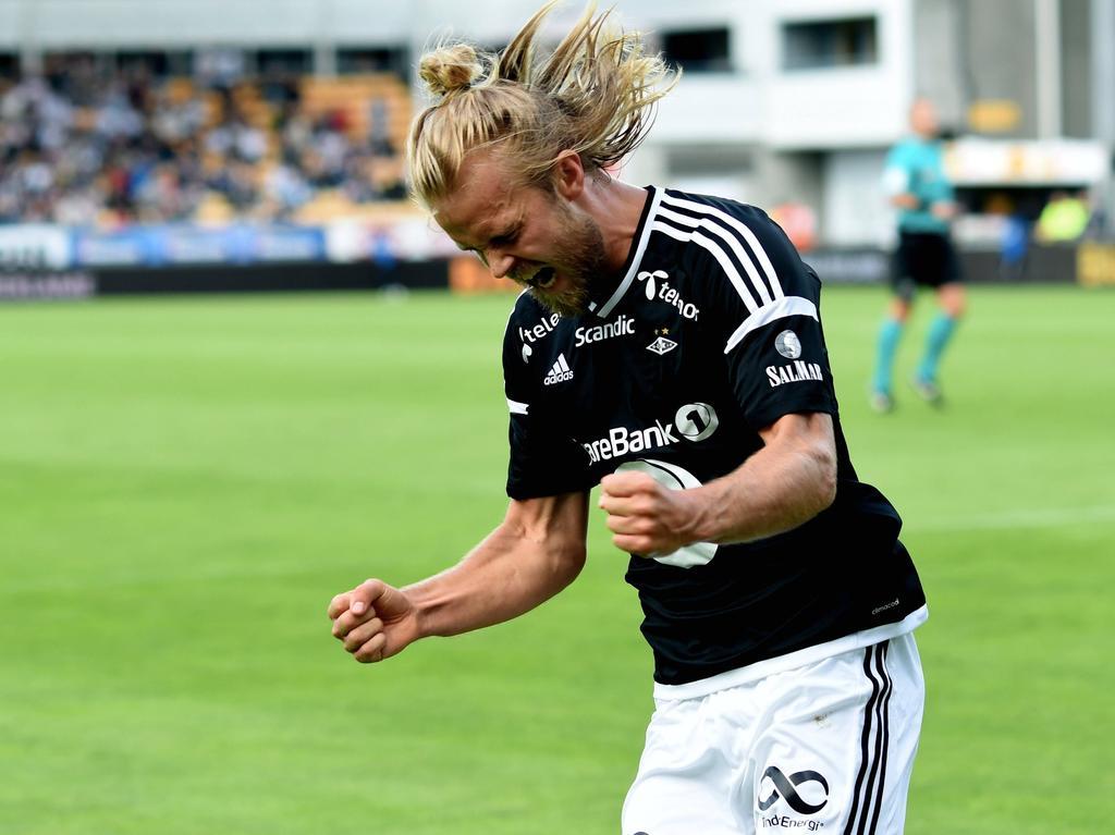 Christian Gytkjær erzielte innerhalb von 16 Minuten drei Tore für Rosenborg BK