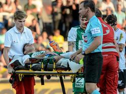Mattersburg-Abwehrchef Nedeljko Malić schied in Altach verletzt aus