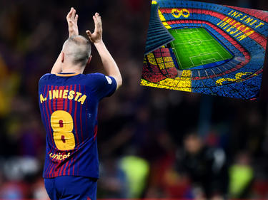 Andrés Iniesta läuft zum letzten Mal für den FC Barcelona auf. © Getty Images/D. Doyle, Twitter/FCBarcelona_es