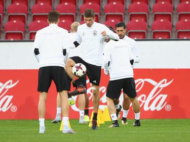 Die deutschen Nationalspieler bereiten sich auf die kommenden Spiele vor