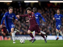 Lionel Messi traf für Barca beim FC Chelsea