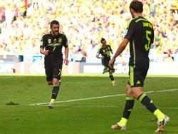 David Villa (l.) traf bei seinem Abschied aus der Nationalmannschaft