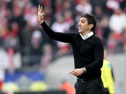 Tayfun Korkut ist als Trainer des VfB Stuttgart noch immer ungeschlagen