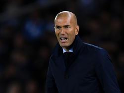 Zidane en un duelo ante la Real Sociedad en septiembre. (Foto: Getty)