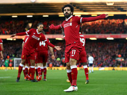 Mohamed Salah ha hecho doblete en el estadio de Anfield. (Foto: Getty)