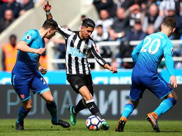 Ayoze Pérez (M.) siegte mit Newcastle gegen Arsenal