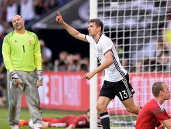 Thomas Müller zieht nach seinem Treffer gegen Ungarn in der Torjäger-Liste mit Klaus Fischer gleich