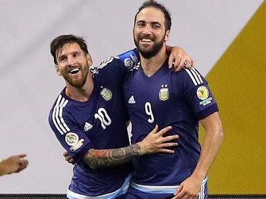 Lionel Messi (li.) und Gonzalo Higuaín stehen im WM-Aufgebot Argentiniens