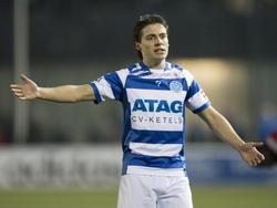 De Graafschap speler Dean Koolhof na het gelijke spel tegen Almere City. (16-03-2015)