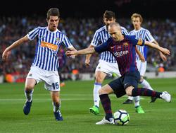 Iniesta durante su último partido de LaLiga con el Barcelona. (Foto: Getty)