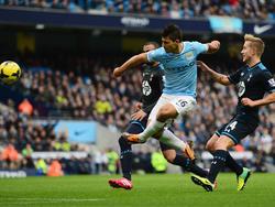 Kun Agüero (M.) fehlt Manchester City wochenlang