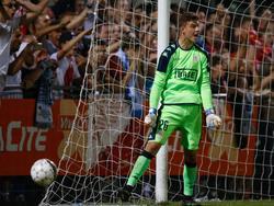 Senne Vits verdedigt het doel van Standard Luik tijdens een oefenduel met Olympique Marseille (02-09-2016).