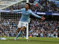 Leroy Sané traf beim Sieg Citys gegen Everton zum 1:0